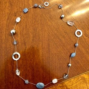 Loft Beachy Blue Stone Long Necklace